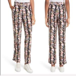 NEW • EQUIPMENT • Florence Floral Print Silk Pants